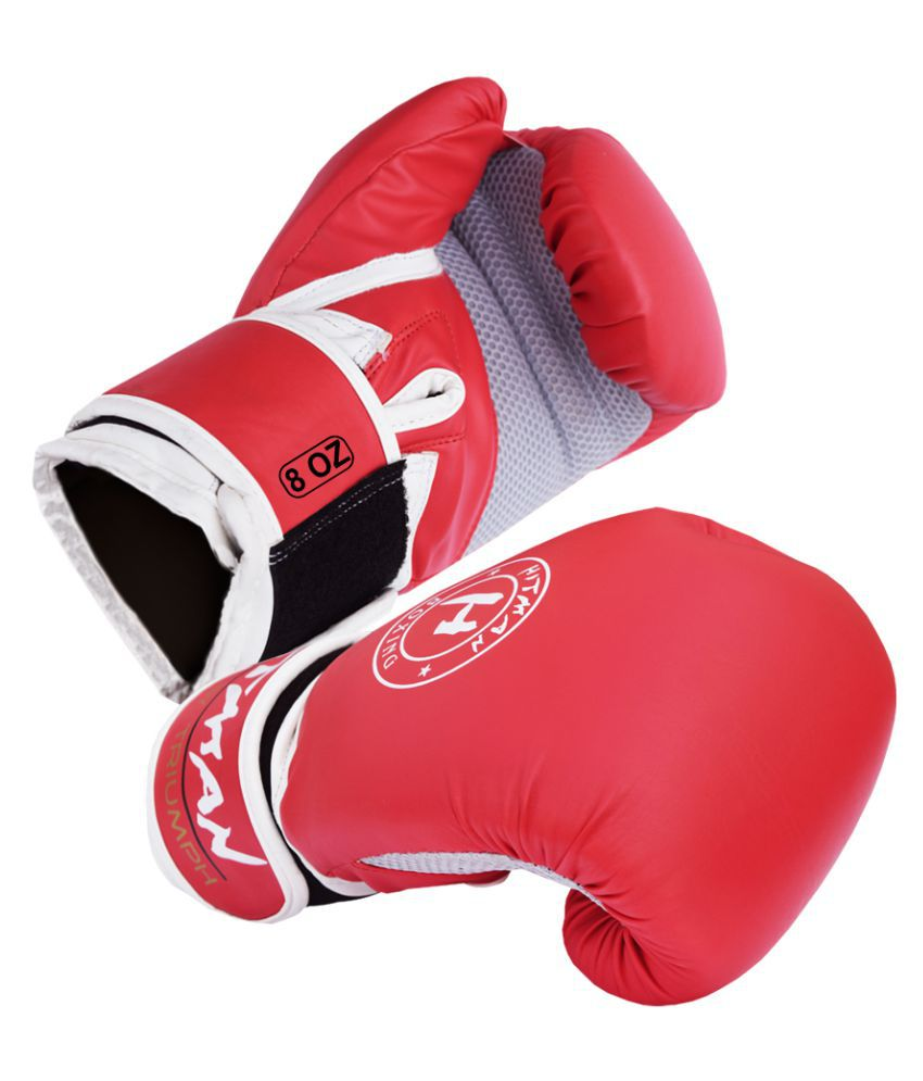 Hitman Force Red White Boxing Gloves Size 8oz Buy Online At Best Price On Snapdeal