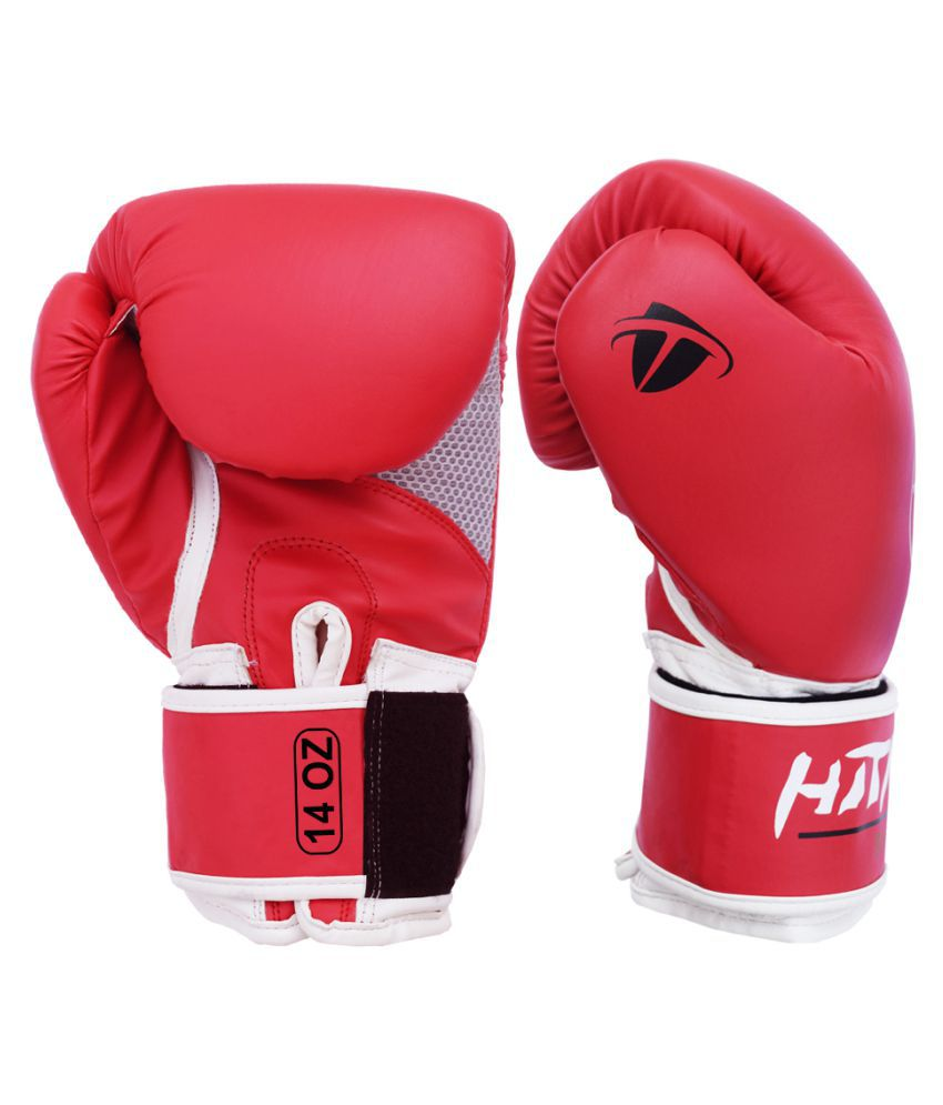 Hitman Force Red White Boxing Gloves Size 14oz Buy Online At Best Price On Snapdeal