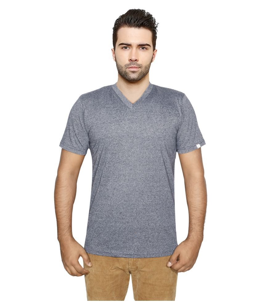 IndiWeaves Grey V-Neck T-Shirt