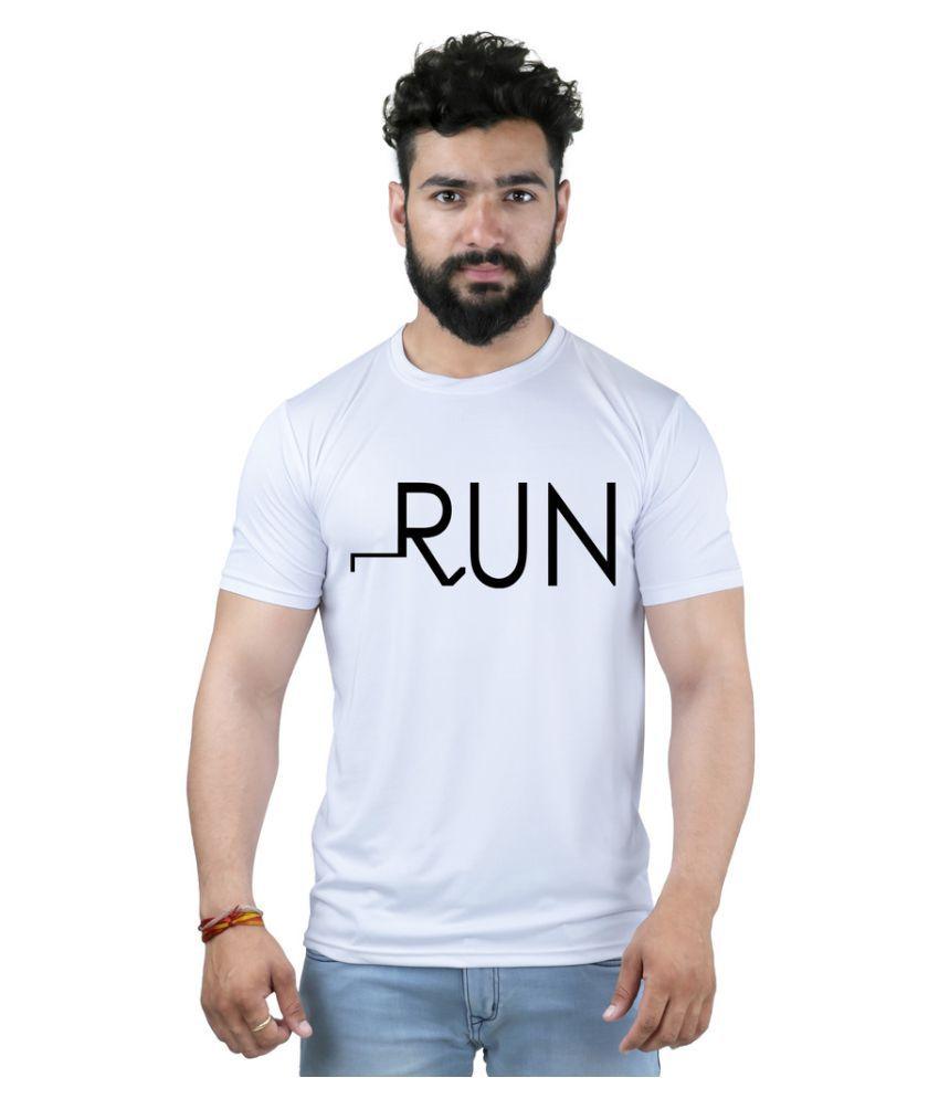 SNOBY White Round T-Shirt