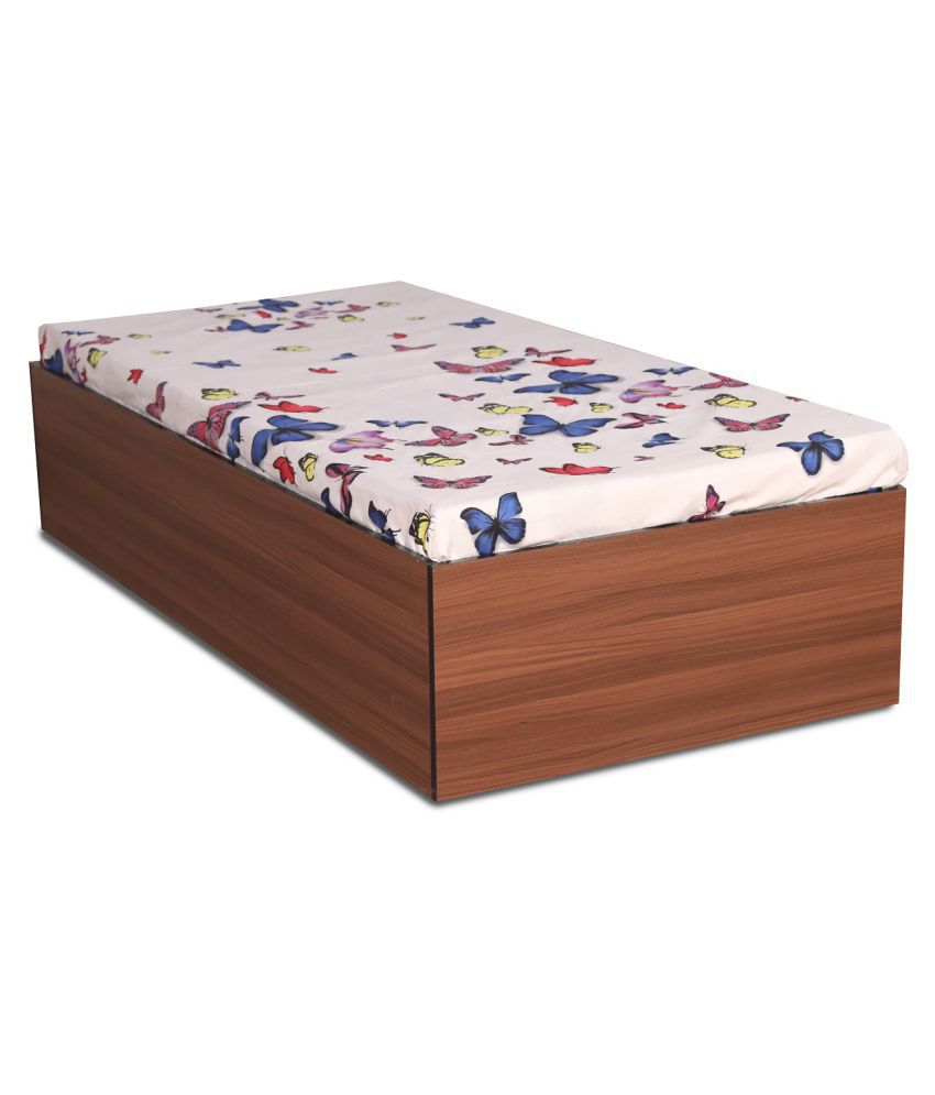 Aspire Divan Bed With Box Storage In Classic Walnut Finish Buy