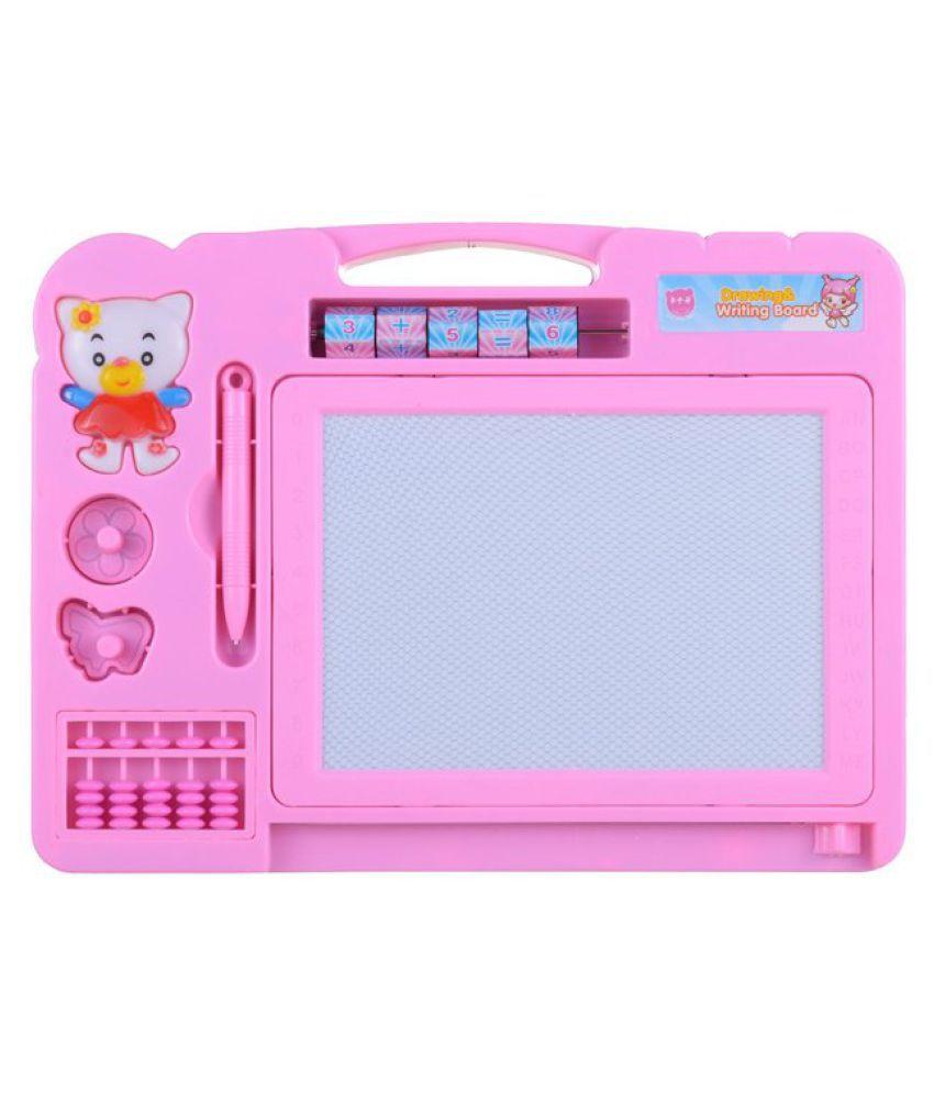 BBS DEAL Writing Board Cum Magic Slate - Pink