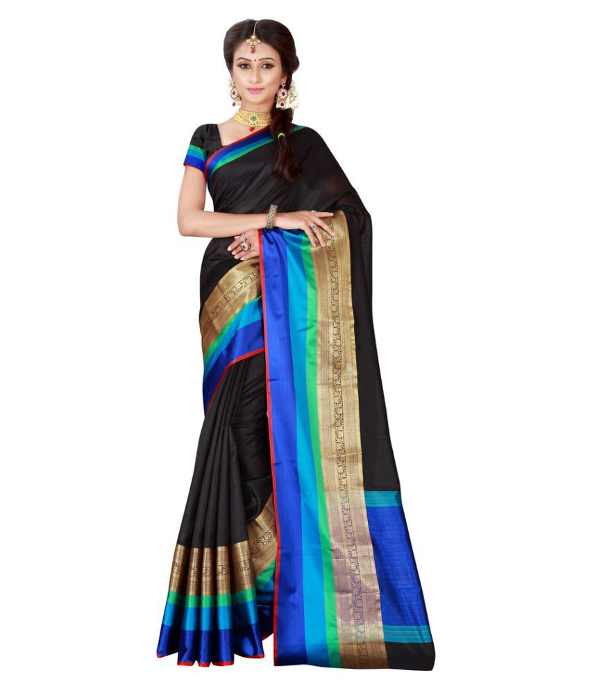 The Ethnic Chic Black Banarasi Silk Saree