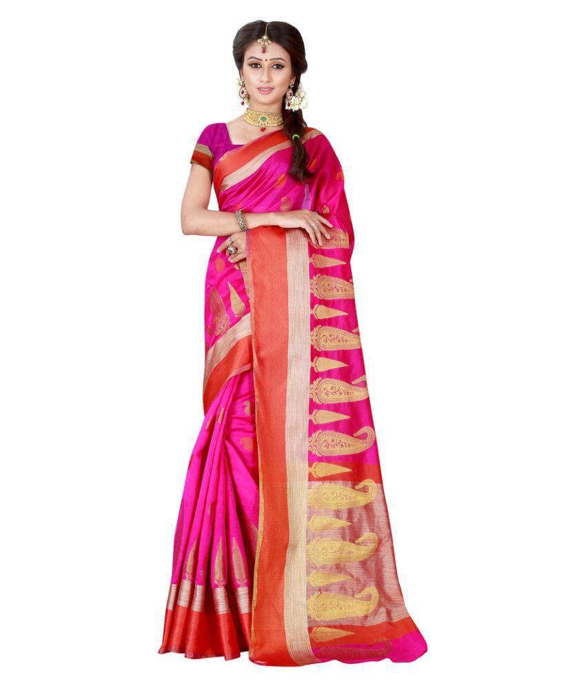 The Ethnic Chic Pink Banarasi Silk Saree