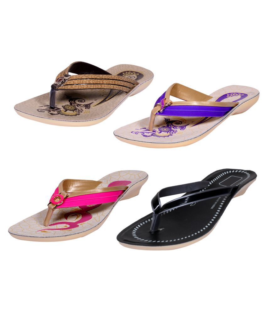 IndiWeaves Multi Color Flats