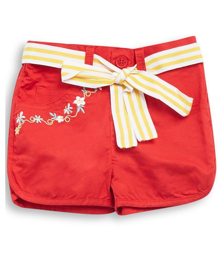 FS MiniKlub Girl's Non Denim Shorts-Red