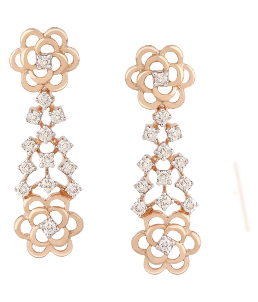 TBZ-The Original 18k Rose Gold Diamond Hangings
