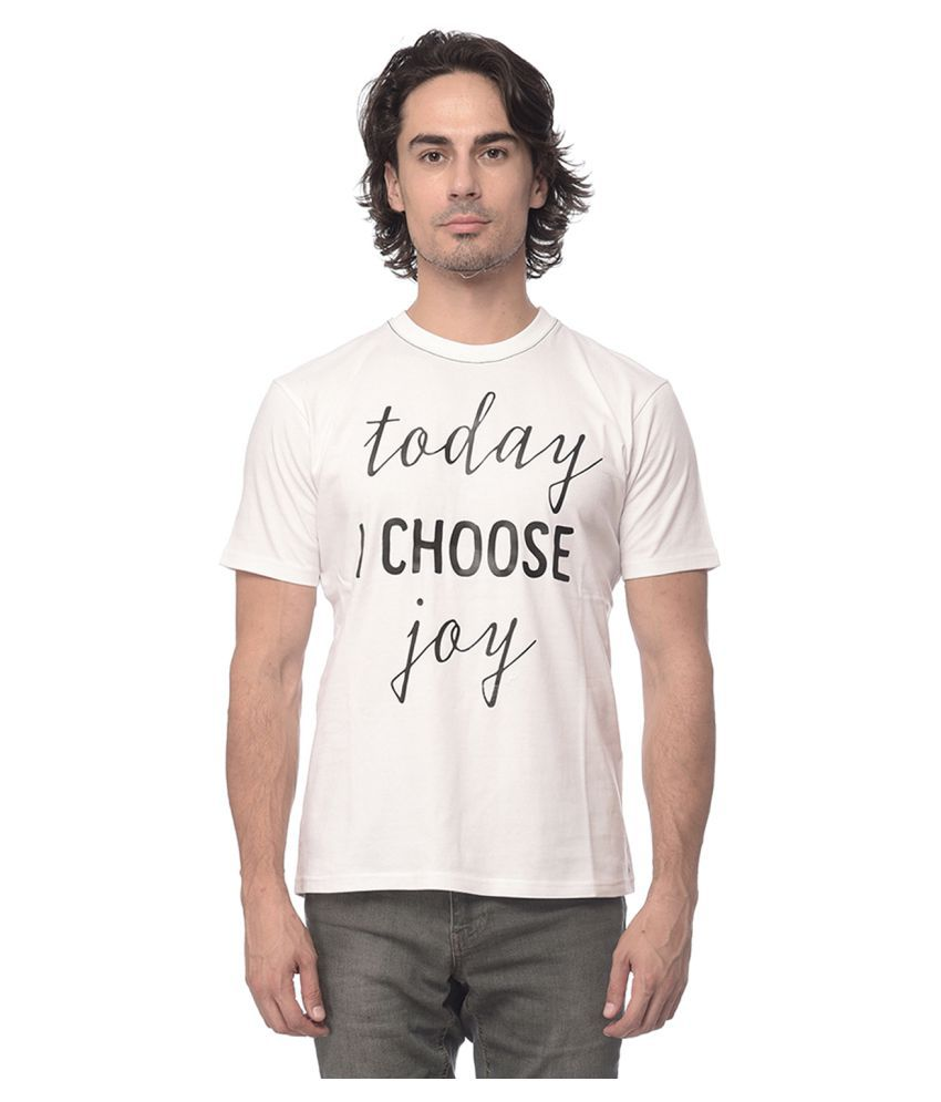 YOLOCLAN White Round T-Shirt