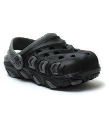 Phedarus Comfortable Clogs for Boys - Black & Grey