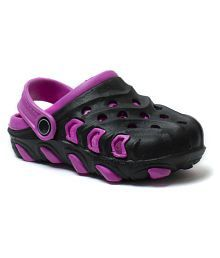 Phedarus Comfortable Clogs for Girls - Black & Pink