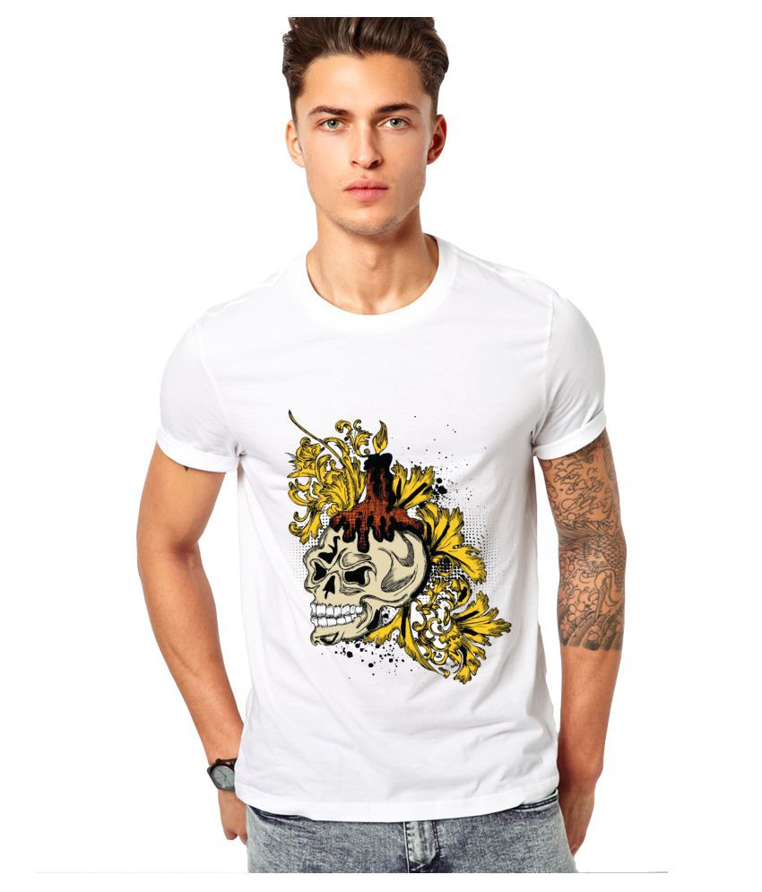edgemeter White Round T-Shirt