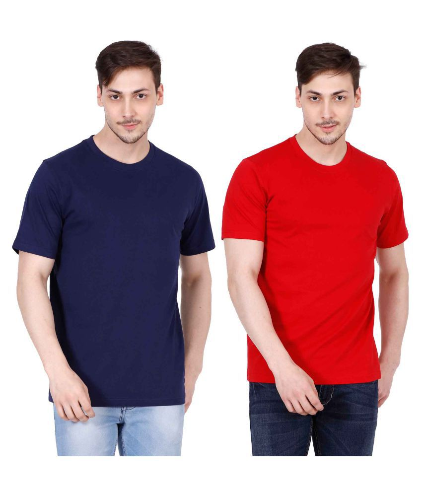 Ojass Multi Round T-Shirt Pack of 2