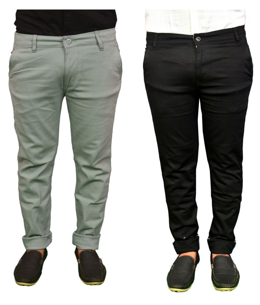REDMAPLEJEANS Multi Regular -Fit Flat Chinos