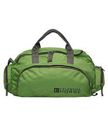 Celestial Horse Green Solid Duffle Bag