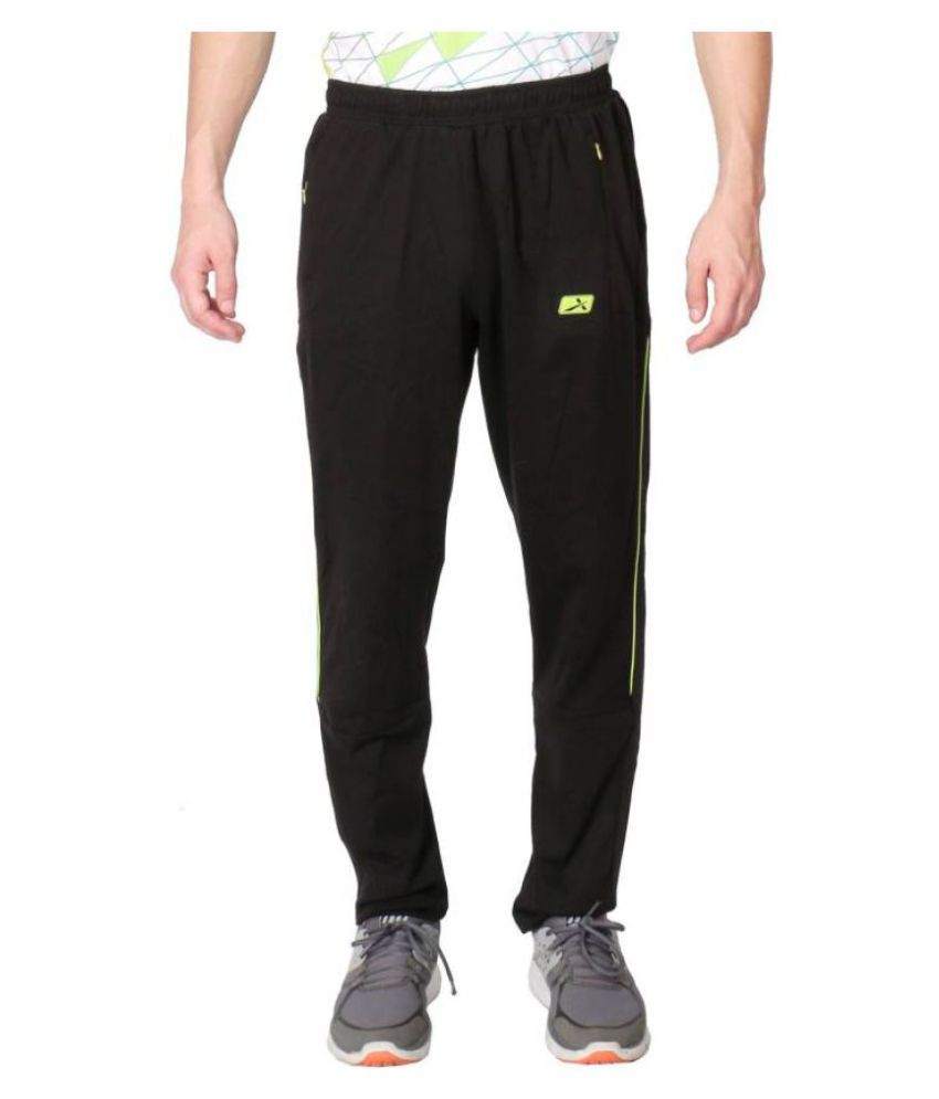 Vector X Black Cotton Trackpants