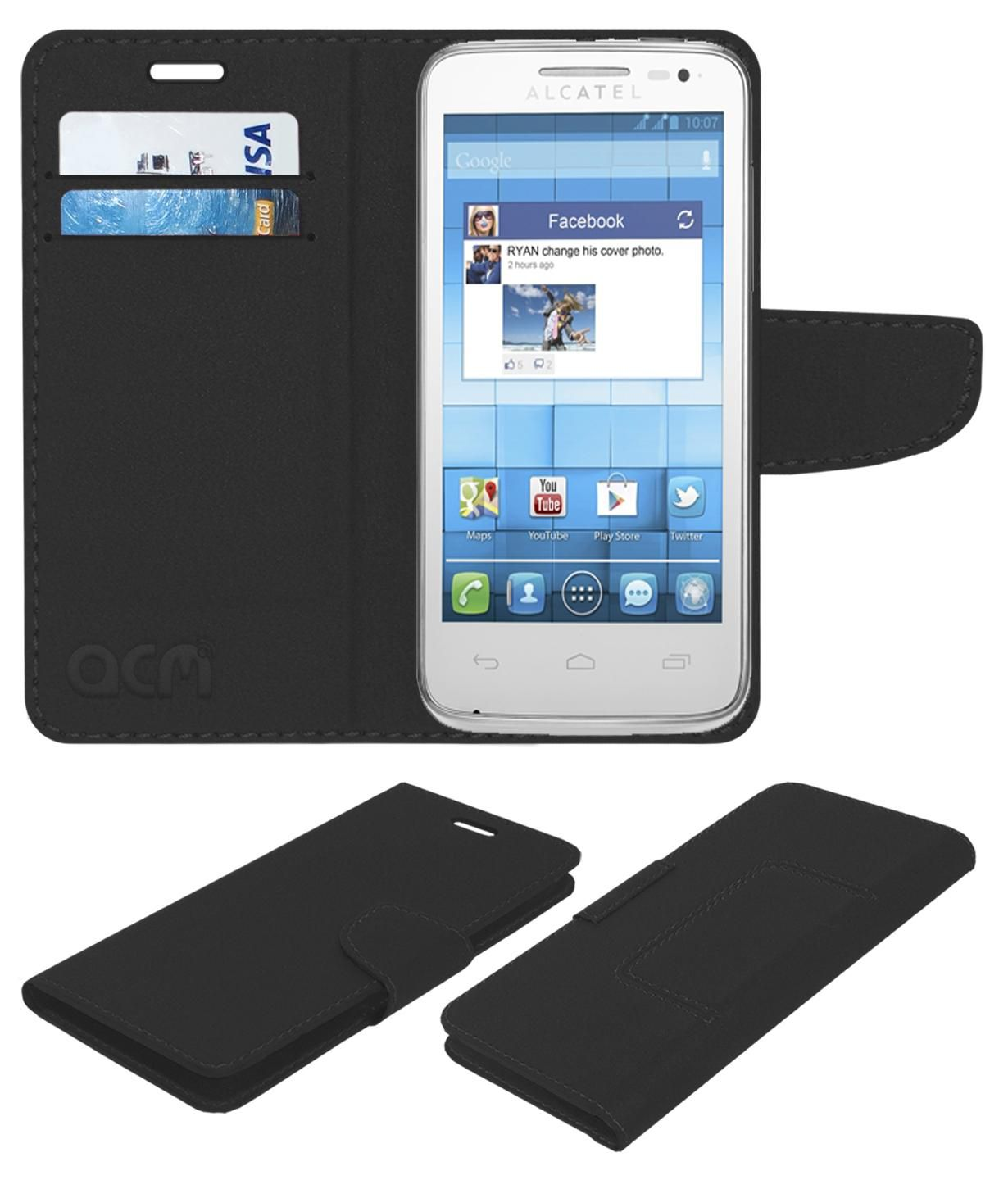 Alcatel Onetouch Inspire 2 Flip Cover by ACM - Black