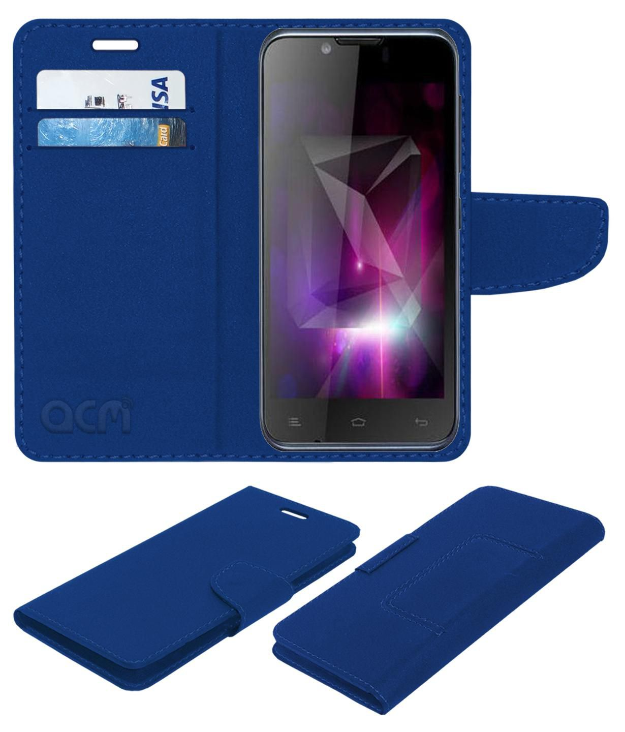 Gionee Ctrl V3 Flip Cover by ACM - Blue