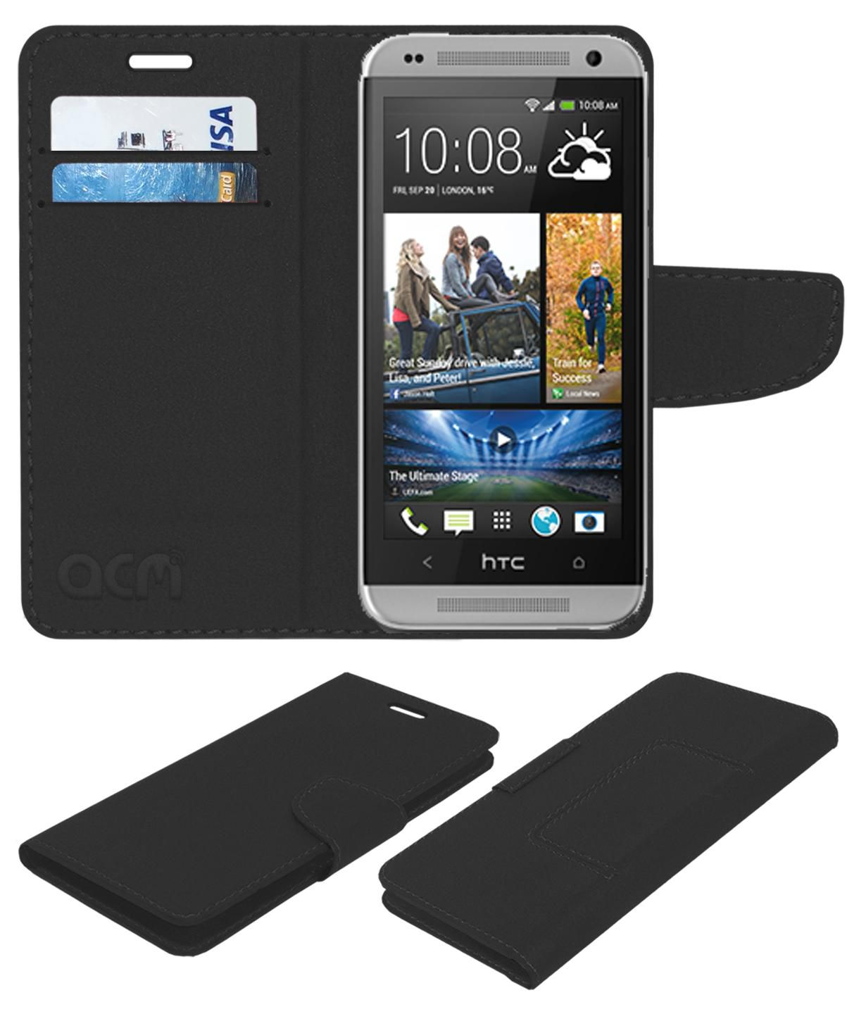 Htc Desire Flip Cover by ACM - Black