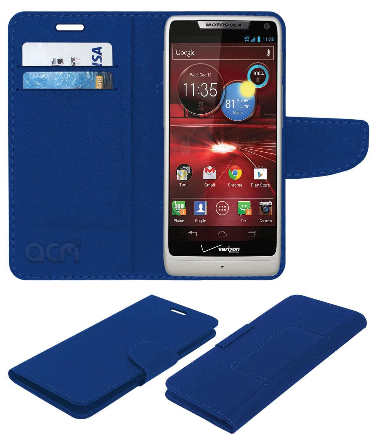 Motorola Droid Razr Maxx HD Flip Cover by ACM - Blue
