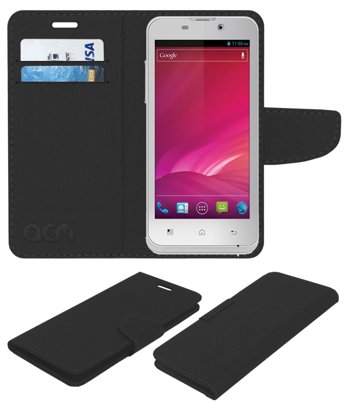 iBall Andi 4.5h Flip Cover by ACM - Black