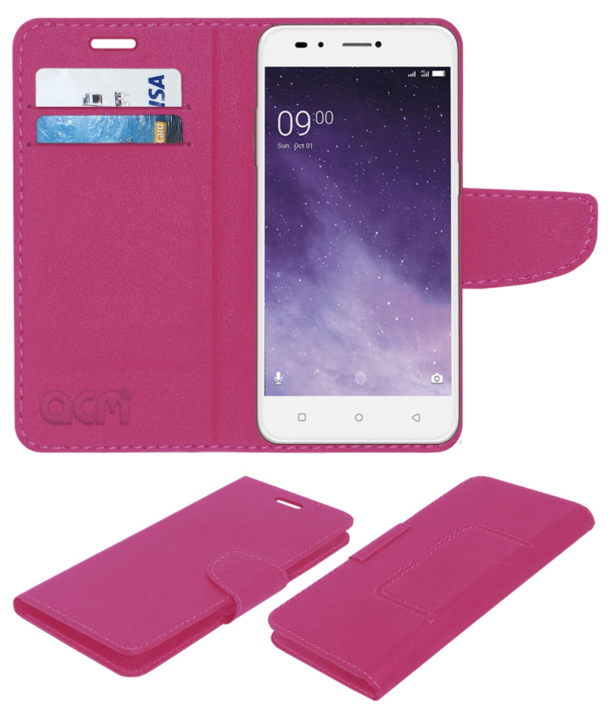 new product 6ec81 0459a Lava Z90 Flip Cover by ACM - Pink