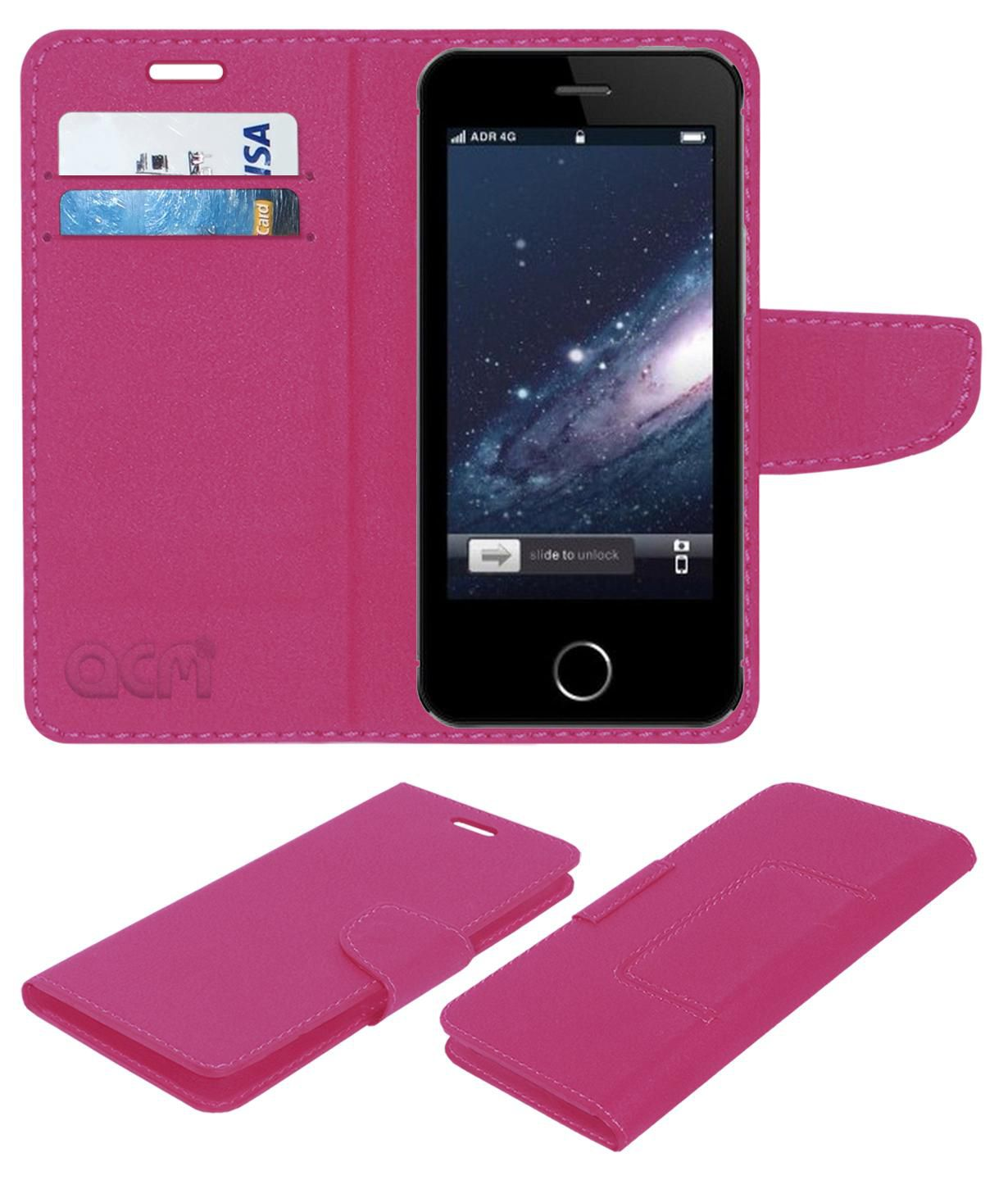 Spice Flo M6112 Flip Cover by ACM - Pink