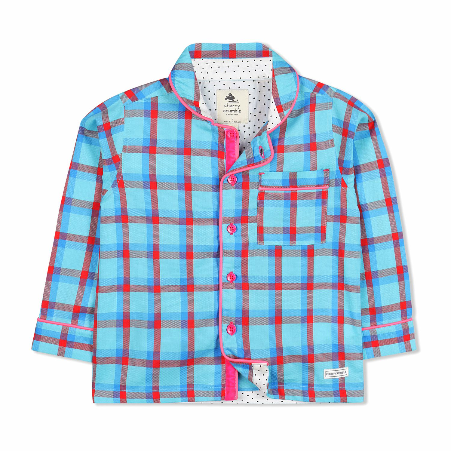 80a8cf4e363 Cherry Crumble Casual Checkered Night Suit - Buy Cherry Crumble ...