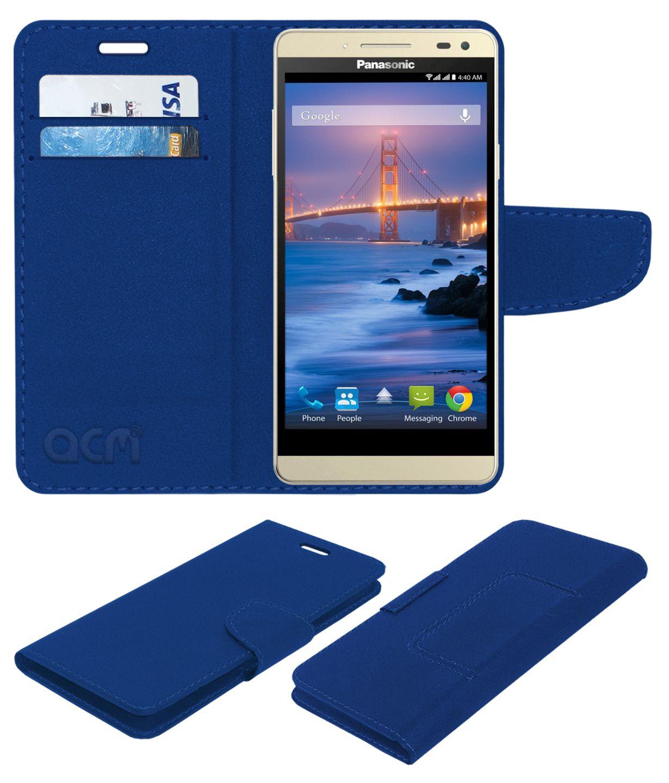 Panasonic Eluga I2 Flip Cover by ACM - Blue