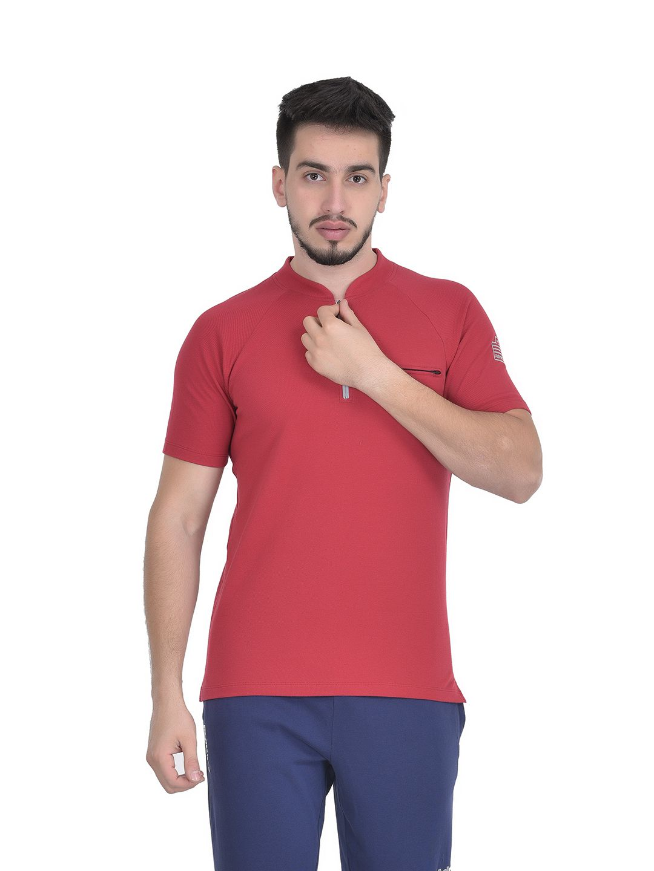 Admiral Maroon Cotton Polo T-Shirt