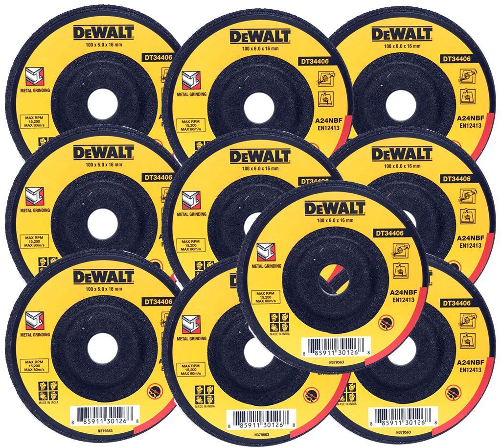 DEWALT DC Wheel(DT34406)100 X 6.0 X 16 mm A24NBF(Pack Of 10)