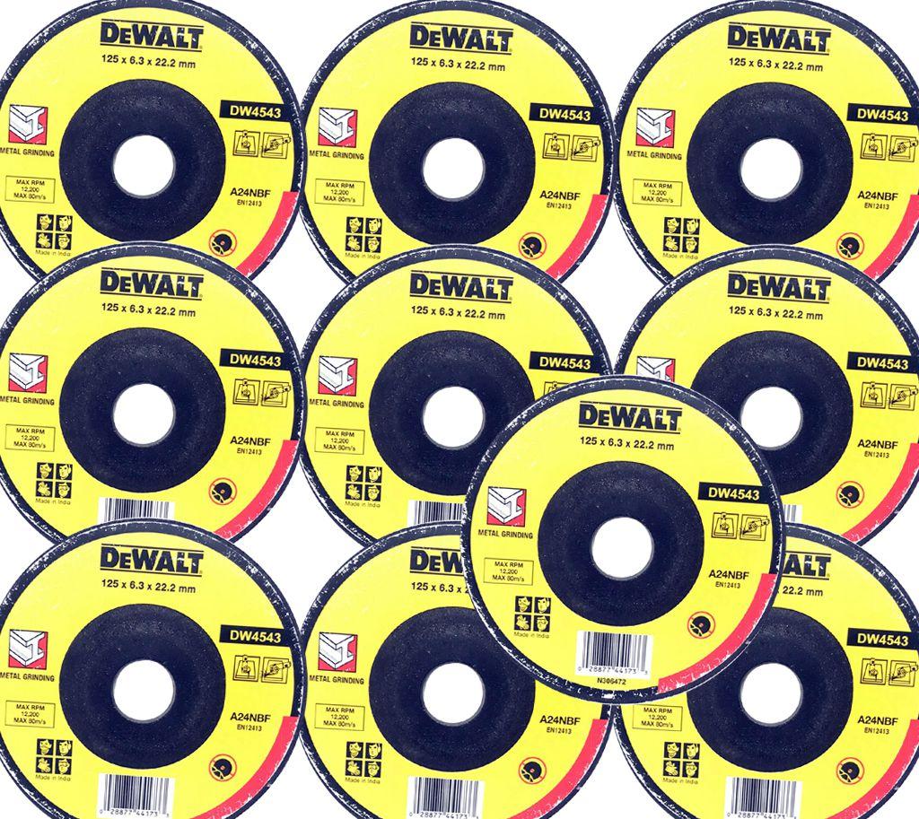 DEWALT DC Wheel(DW4543)125 X 6.0 X 22.23 mm  A24NBF(Pack Of 10)