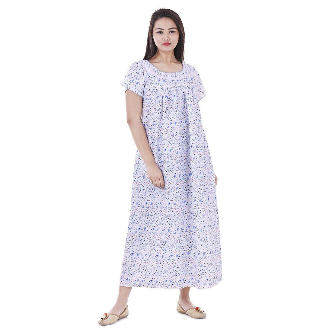 Indian Wholesale cotton printed Nightwear Gown ,Bikini Cover And Sleepwear
