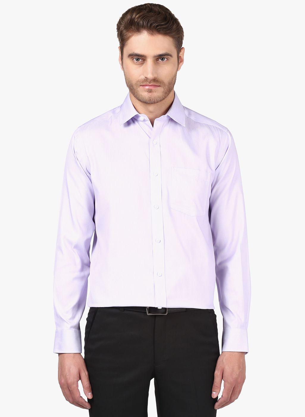 Park Avenue Purple Regular Fit Shirt
