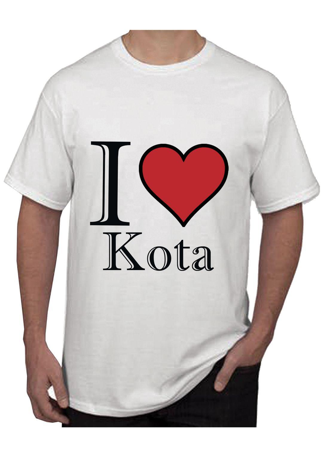 RITZEES White Dry Fit Polyester T-Shirt On I Love Kota