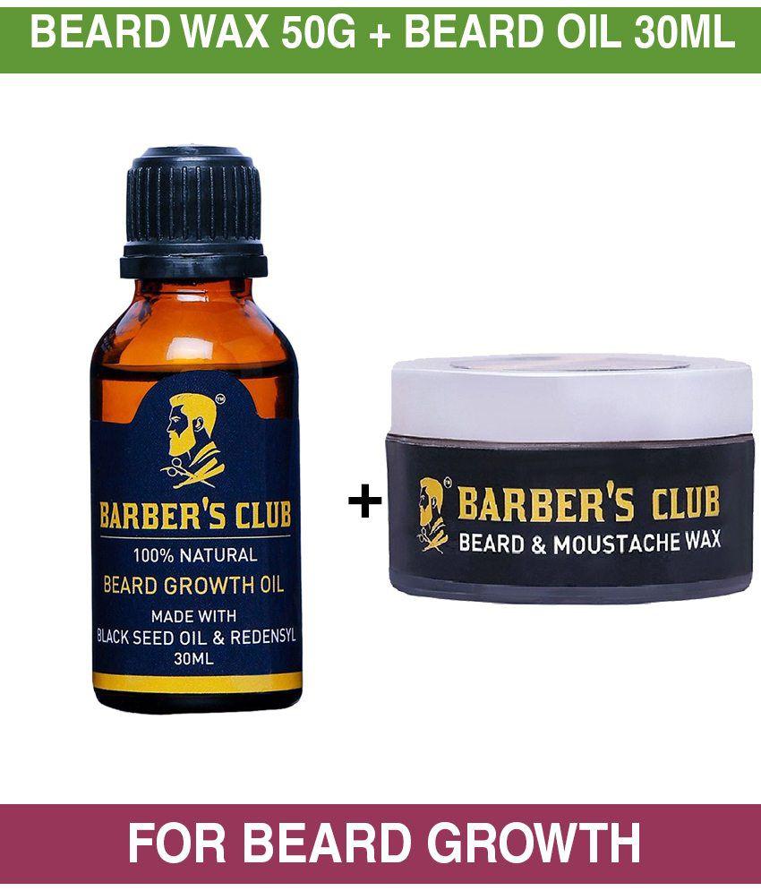 Barber S Club Beard Wax 50 Gm Beard Growth Oil 30 Ml Beard Growth