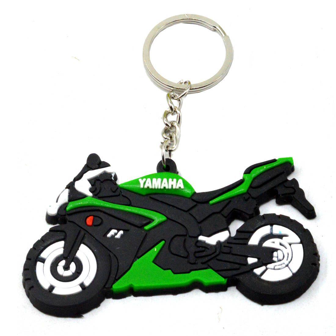 Faynci Yamaha Bike Logo Yamaha Inspired Silicone Black/Green/White soft Key Chain