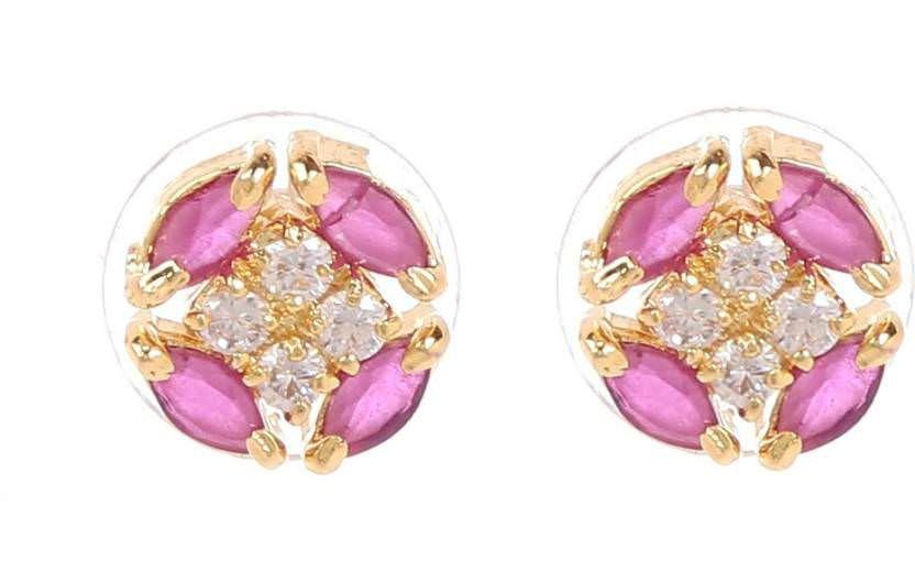 GoldNera Sundar Brass Stud Earrings
