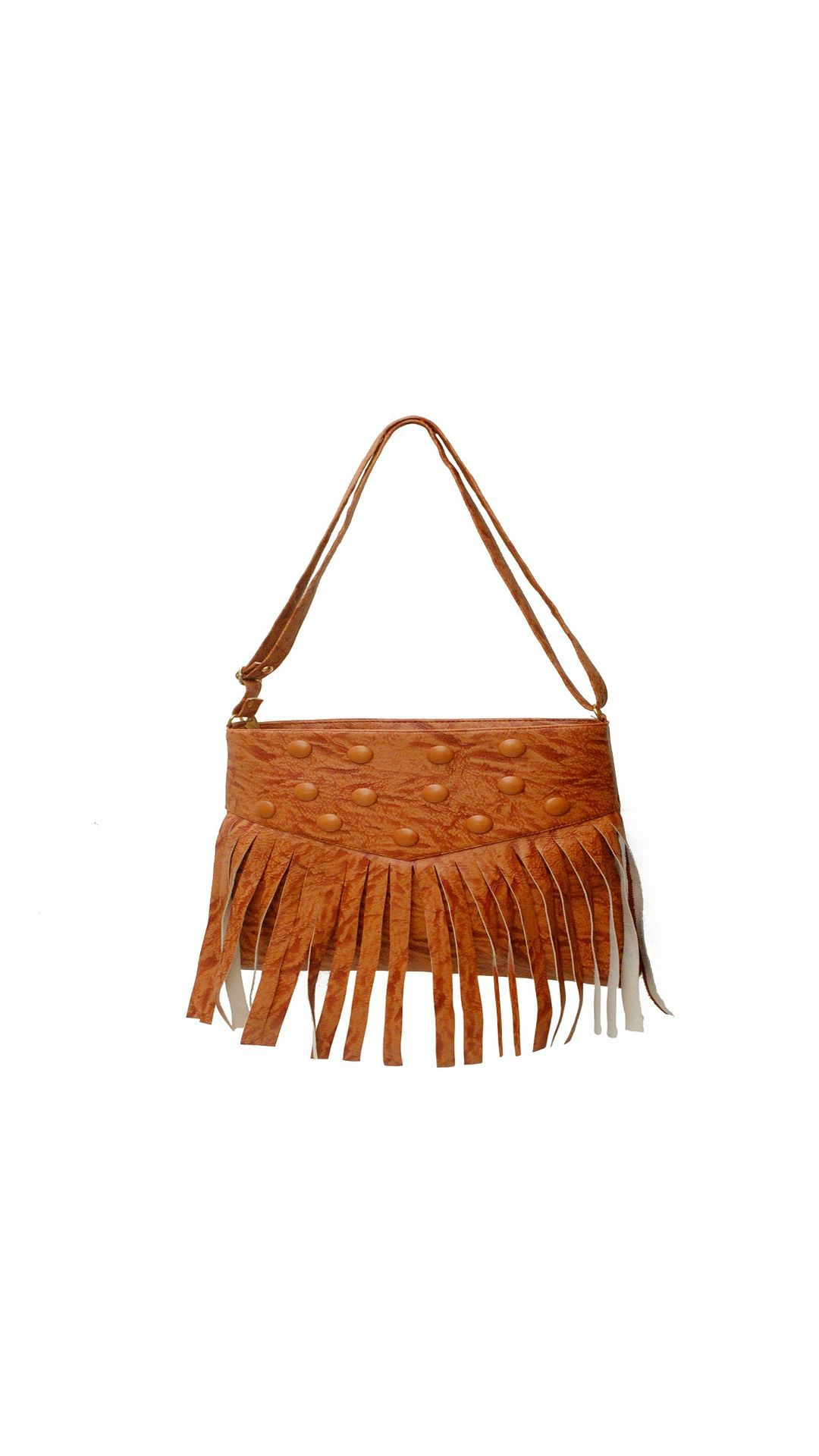 Varaj Golden Brown P.U. Handbags Accessories