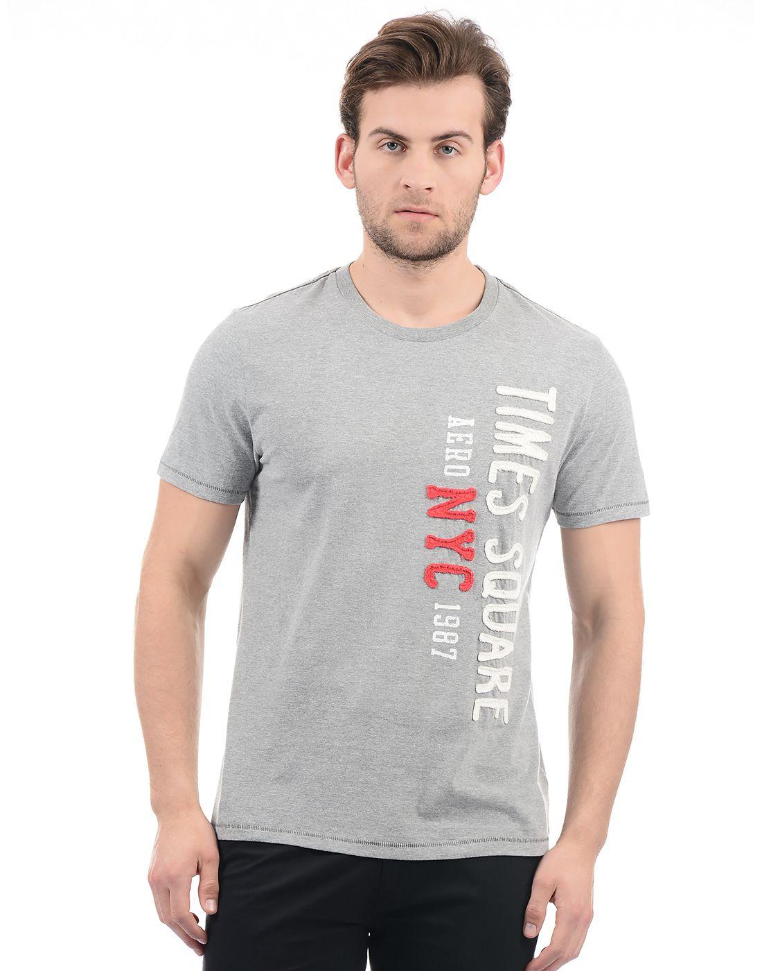 Aeropostale Grey Round T-Shirt