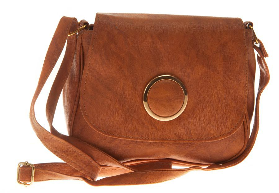 Aliado Brown Faux Leather Sling Bag