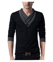Try This Black V-Neck T-Shirt