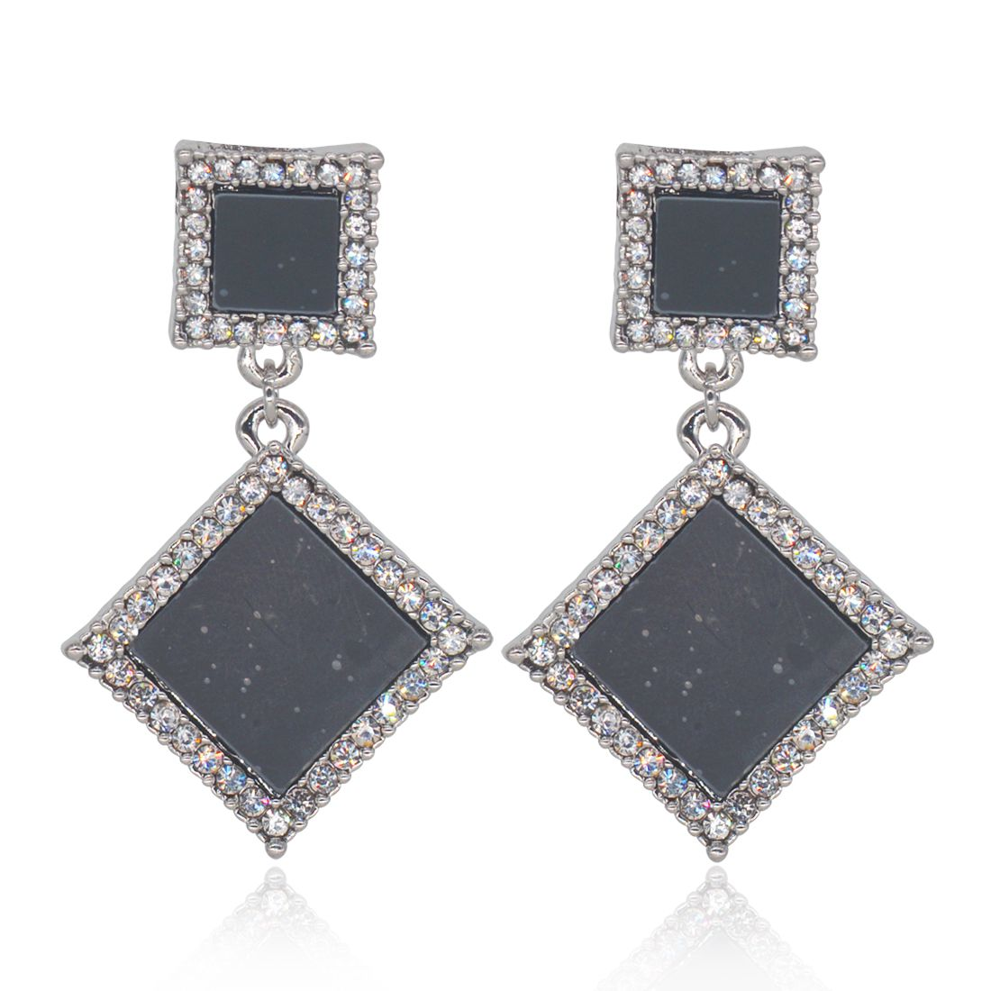 Glitters White Stone Designer Earrings for Women / Girls