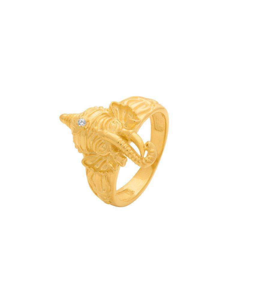Dare By Voylla Spiritual Saga Sleek and Stylish Ganesha Ring