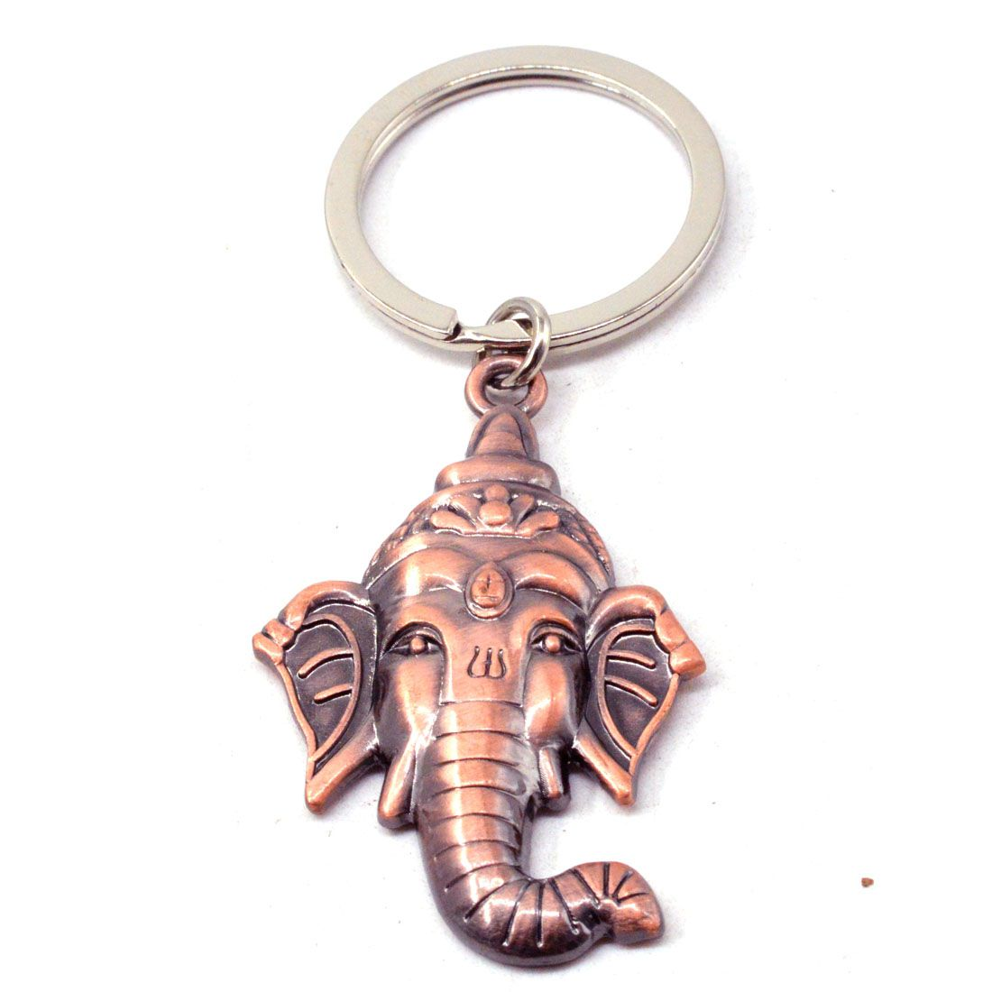 Faynci Shree Lord Ganeshaya Metal Key Chain for Good Luck