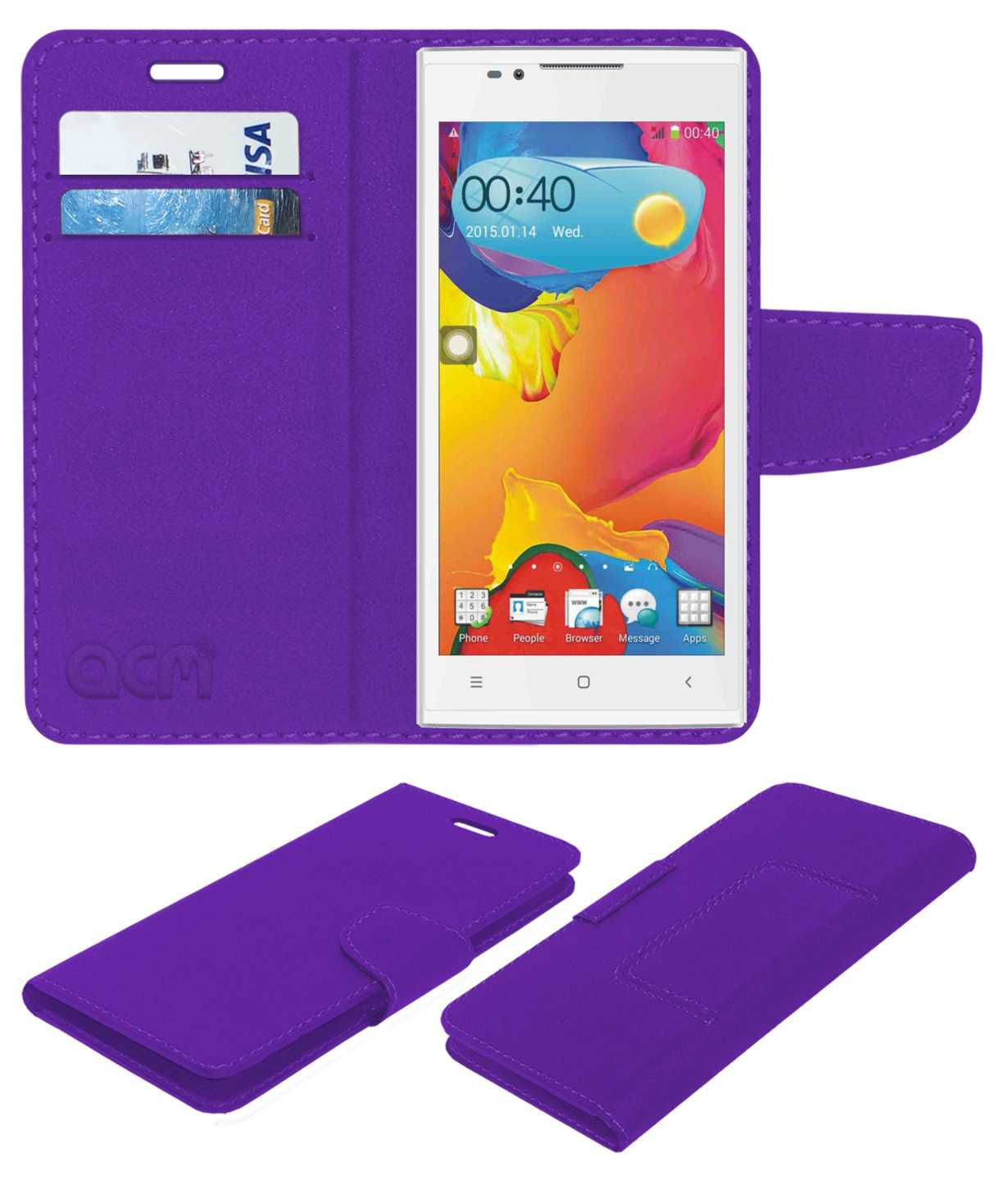 MATRIXX GENIUS G1 Flip Cover by ACM - Purple