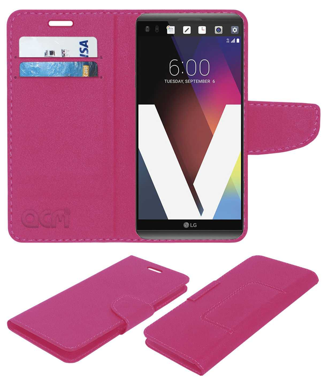 Lg V20 Flip Cover by ACM - Pink