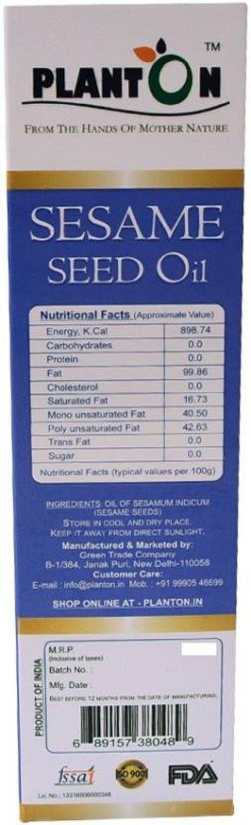 PLANTON Cold-Preseed Sesame Seed oil 500 ml