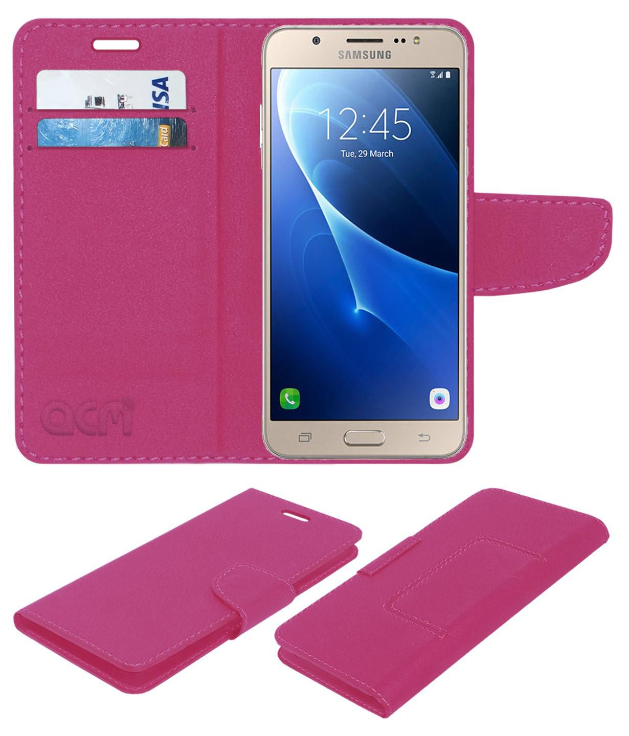 buy online 4466e 0bcb6 Samsung J7-6 Flip Cover by ACM - Pink