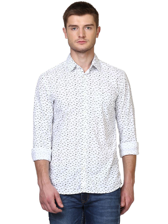 Parx White Slim Fit Shirt