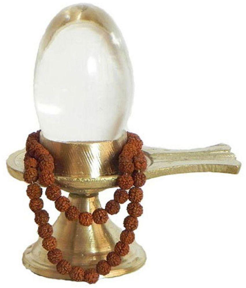 only 4 you crystal sphatik shivling with rudraksha mala. Black Bedroom Furniture Sets. Home Design Ideas